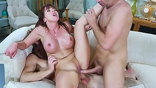 Milf in heats, intense scenes of savage threesome sex