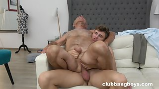 Old man enjoys sexual relations with a twink unconfirmed the orgasm