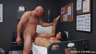 Muscular man fucks rub-down the watch over surpassing rub-down the hospital bed