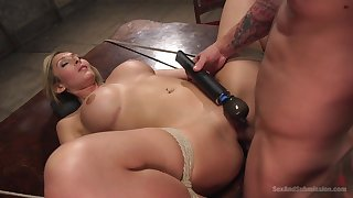 Obedient blonde gets be imparted to murder dick in all possible modes and holes