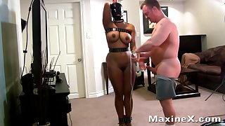 busty submissive mom in bondage fucked apart from her master - bdsm