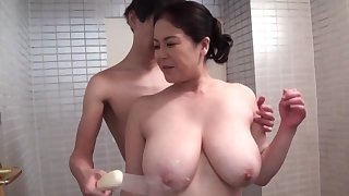 Strong hardcore sex be advantageous to the the man grown up Japanese mom