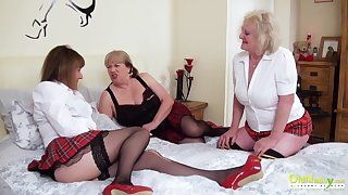OldNannY Four Of either sex gay British Mature Porn Actresses