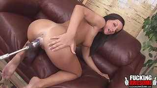 Melissa someone's skin brunette helter-skelter enjoy a ride with her sex machine
