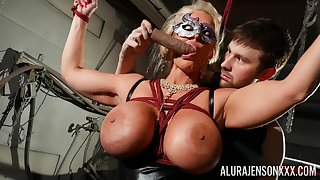 Masked cougar amazes with her obedience